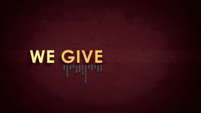 'We Give' Series Graphic
