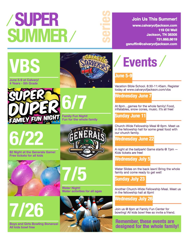 super summer series 2017 poster